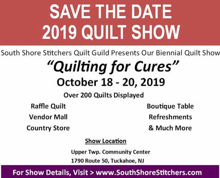 Quilt Show 2019 Save The Date Post Card